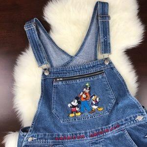 Vintage American Originals Disney Denim Overalls